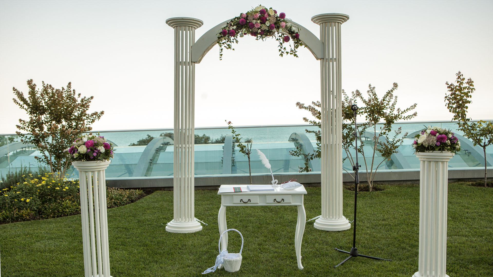 Сватбена декорация за изнесен ритуал