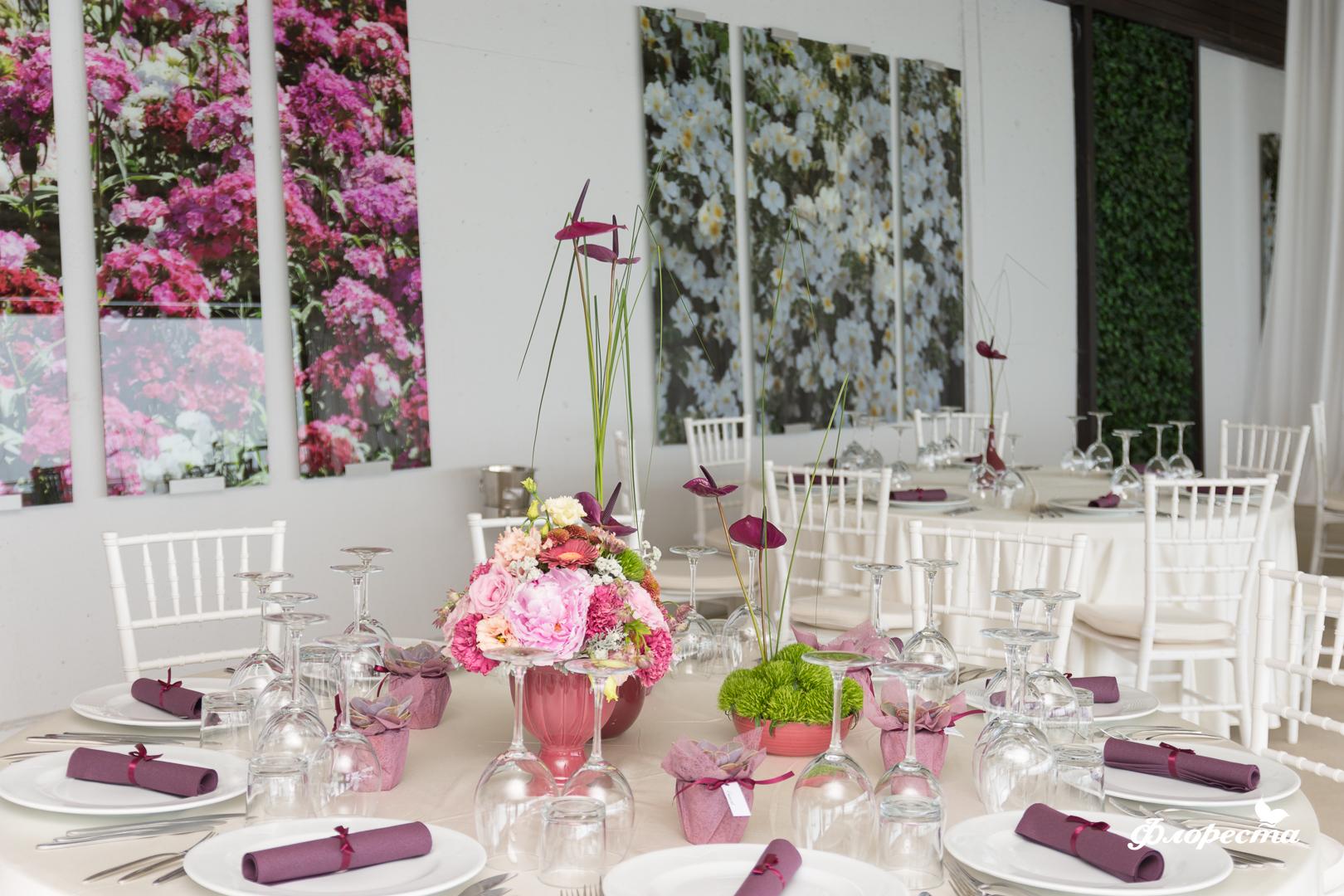 Декорация за сватбено тържество в ресторанта